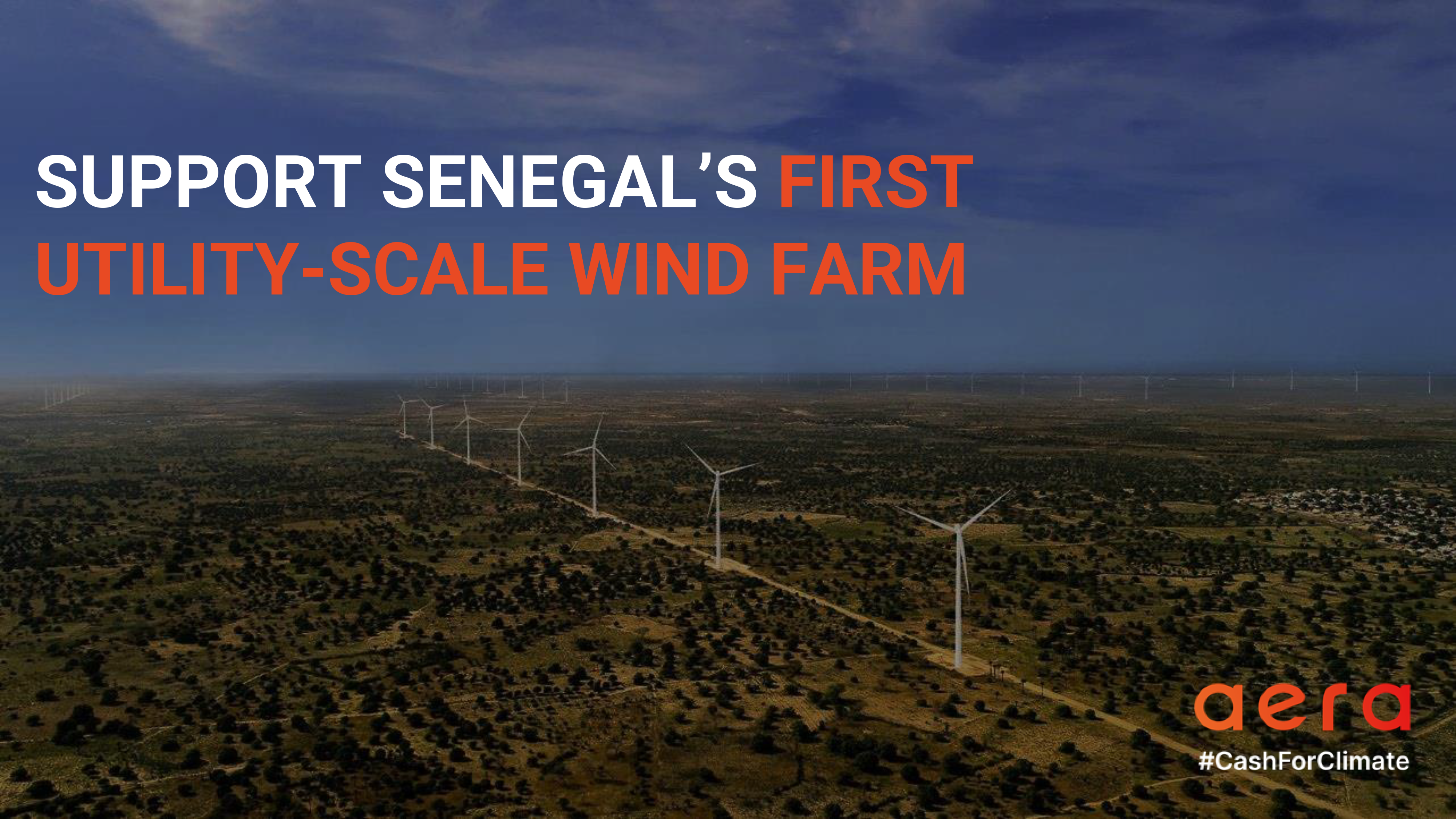 SUPPORT SENEGAL'S FIRST  UTILITY-SCALE WIND FARM
